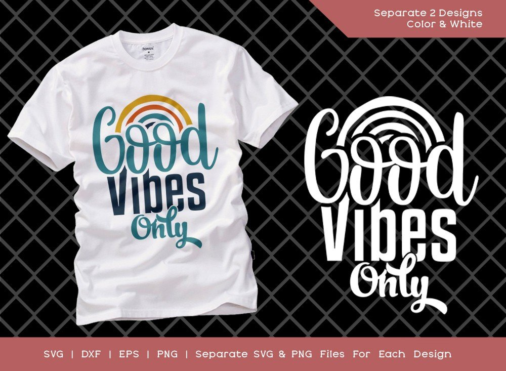 Good Vibes Only SVG Cut File | Hippie Life | T-shirt Design