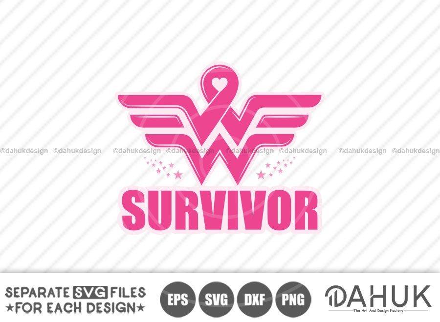 Wonder Woman Breast Cancer Survivor svg, Survivor svg