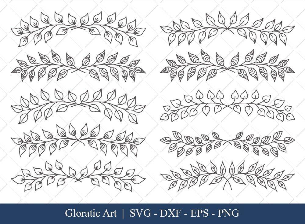 Floral Text Divider SVG Cut Files | FTD002
