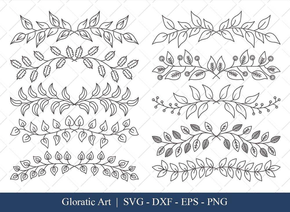 Floral Text Divider SVG Cut Files | FTD003