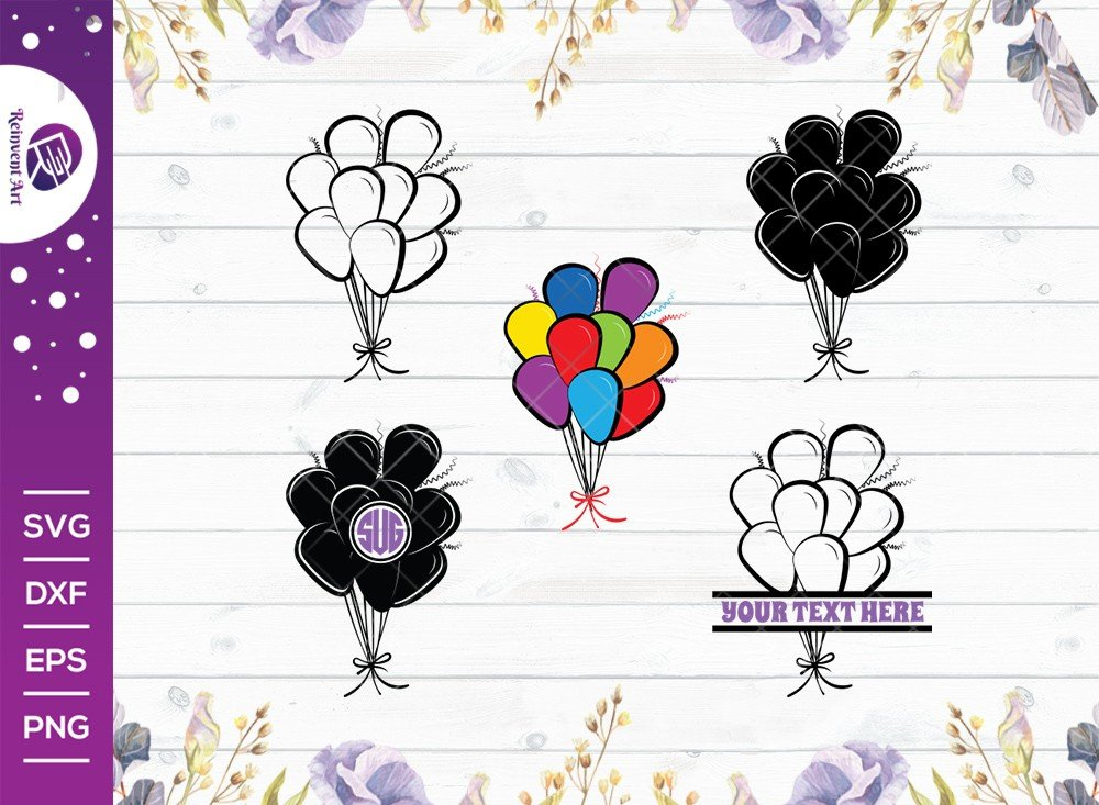 Balloon SVG Cut File   Party Balloon Svg   Hot Air Balloon