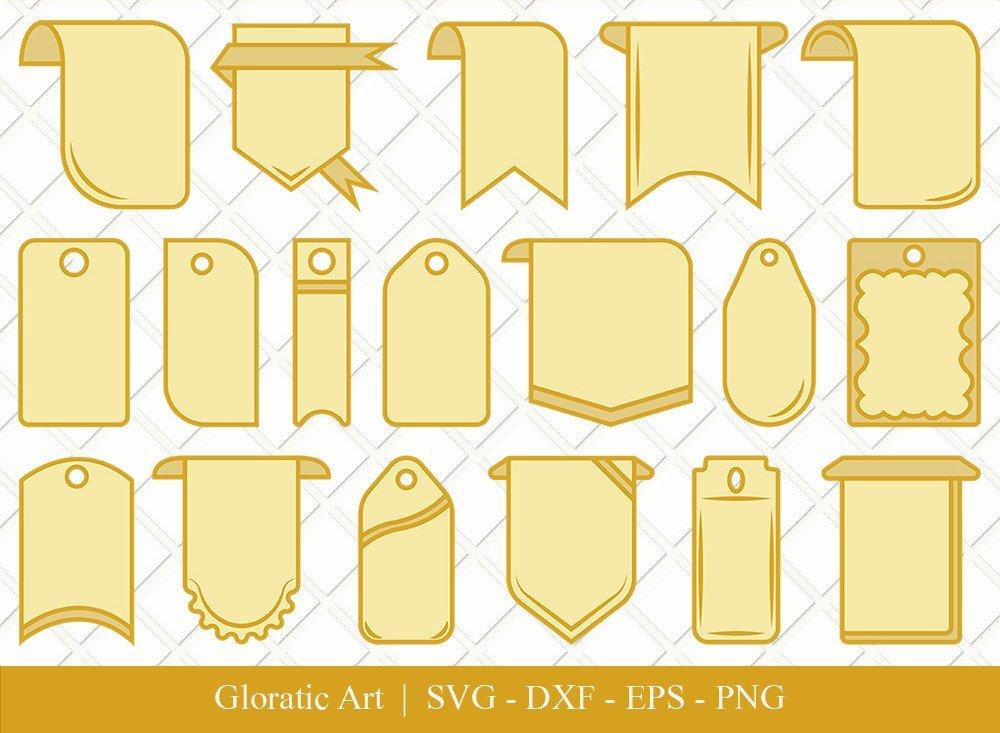 Gift Tag Ribbon Clipart SVG Cut Files   Gift Tag Svg