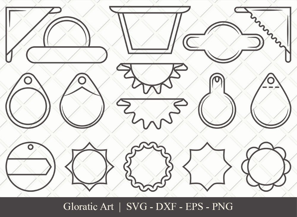 Gift Tag Ribbon Outline SVG Cut Files   Gift Tag Svg
