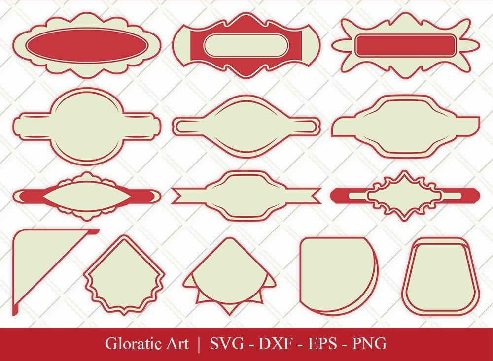 Name Tag Ribbon Clipart SVG Cut Files   Name Tag Svg