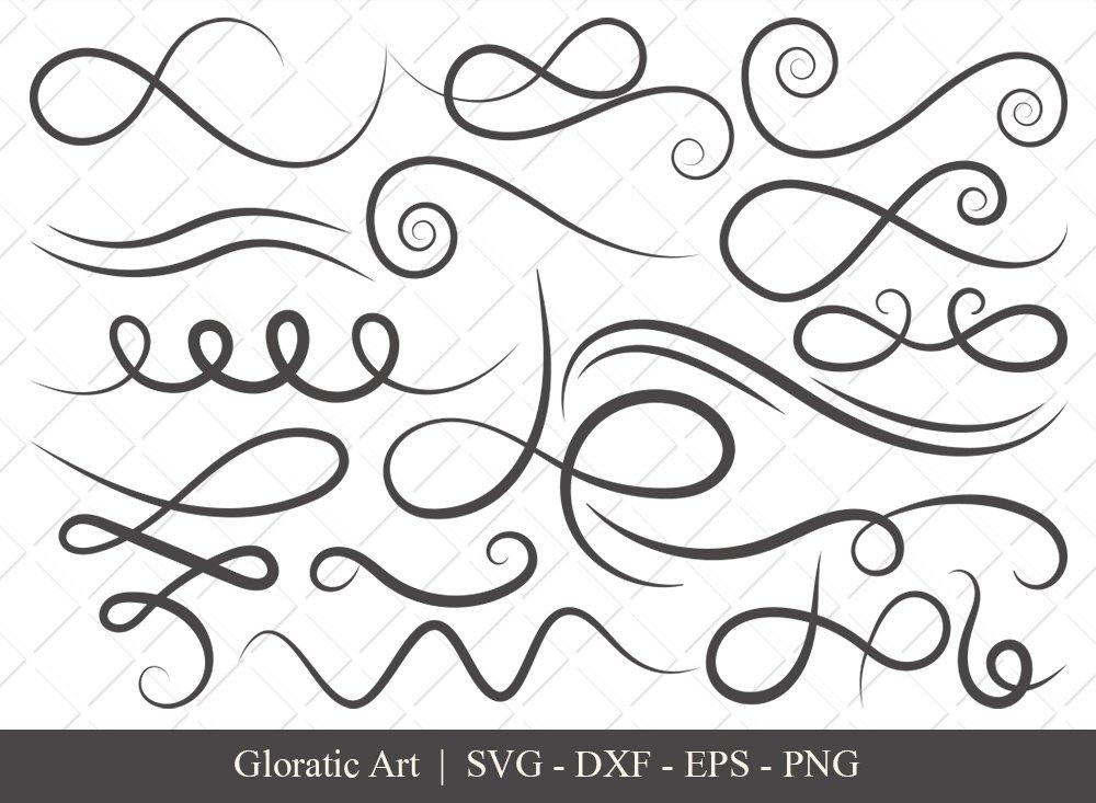 Swirl SVG Cut File | Flourish Svg | Swoosh Svg | Squiggle