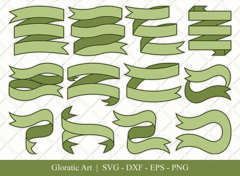 Text Ribbon Clipart SVG Cut Files | Text Banner Svg | TRC003