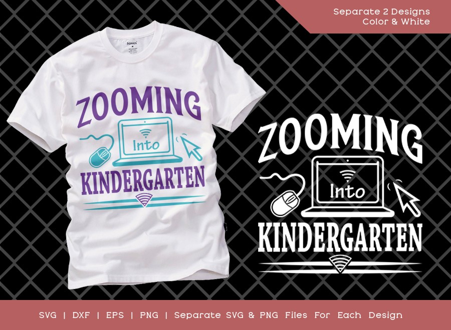Zooming Into Kindergarten SVG Cut File | Distance Learning