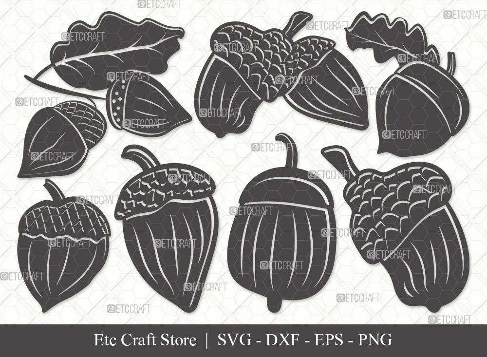 Acorn Silhouette SVG Cut File | Fall Svg