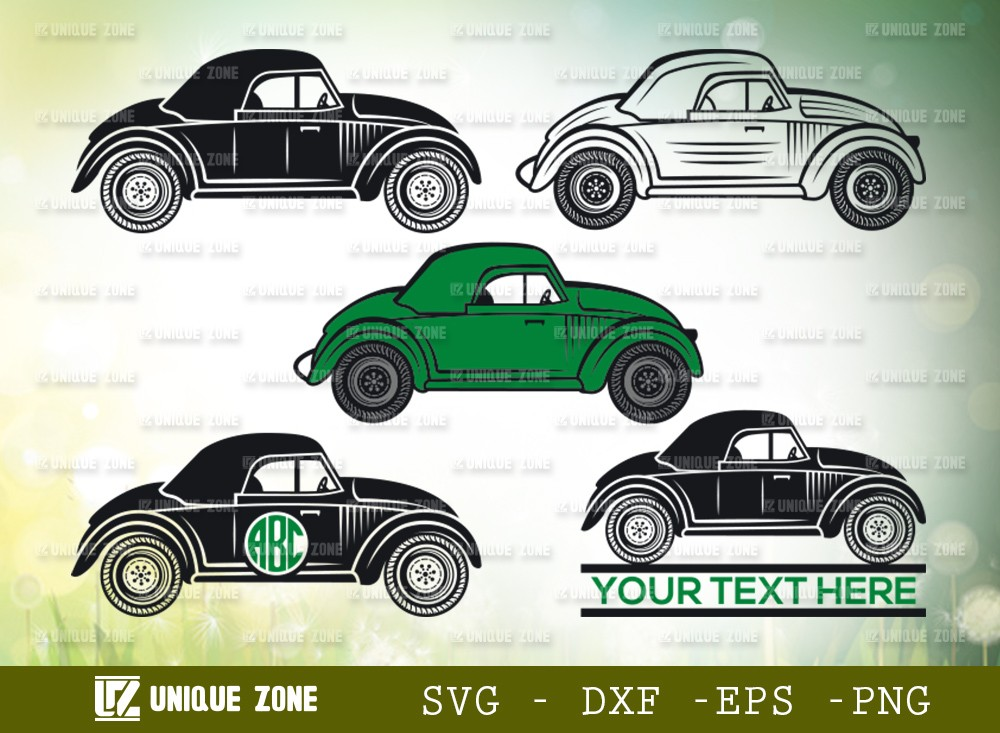 Ambassador Car SVG | Car Monogram Svg