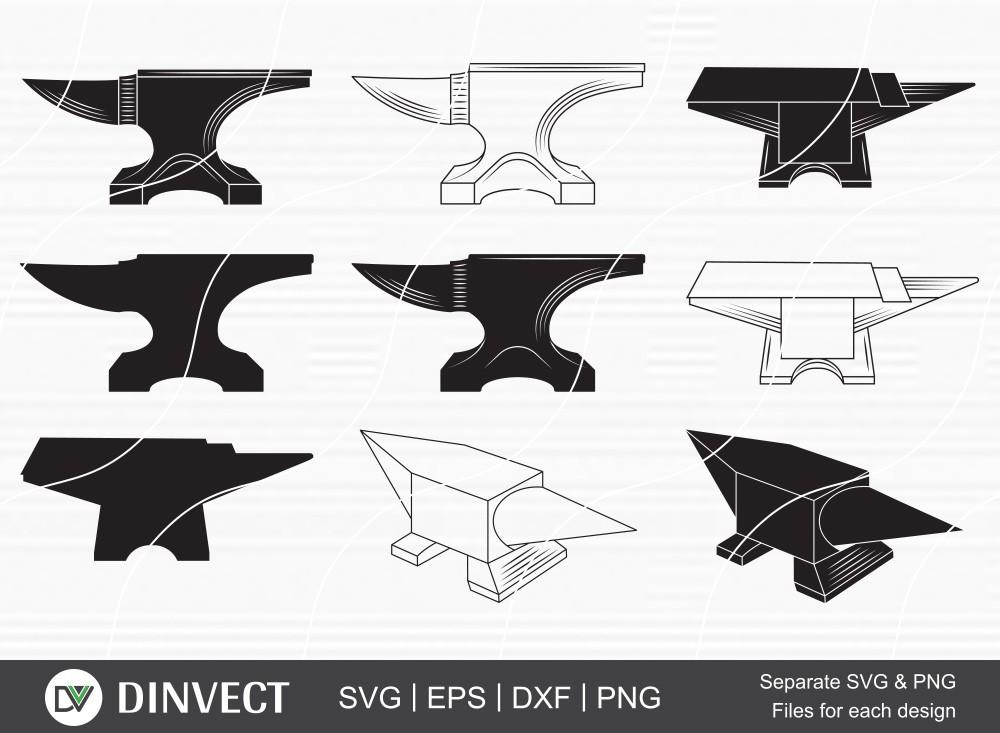 Anvil SVG Bundle, Anvil clipart, Anvil silhouette