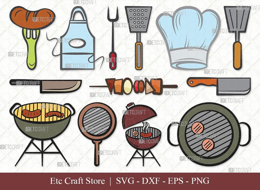 BBQ Clipart SVG Cut File | Barbecue Svg