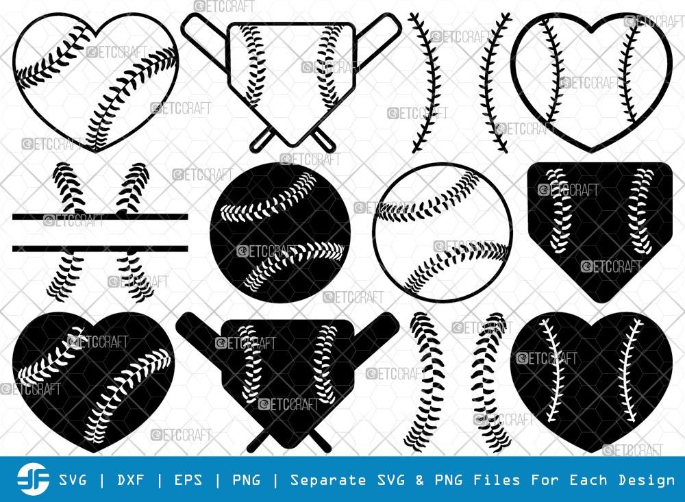 Baseball SVG Cut Files | Baseball Silhouette