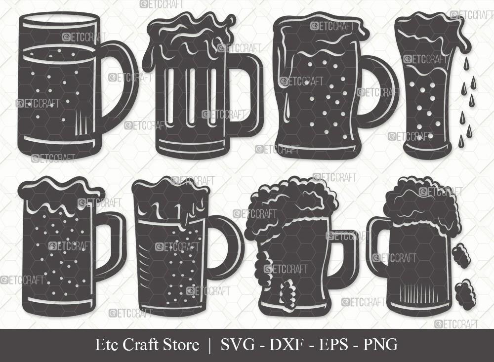 Beer Mug Silhouette SVG Cut File   Beer Svg