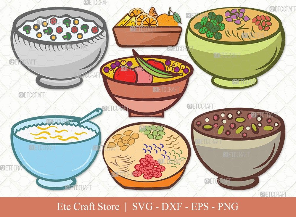 Bowl Healthy Clipart SVG Cut File