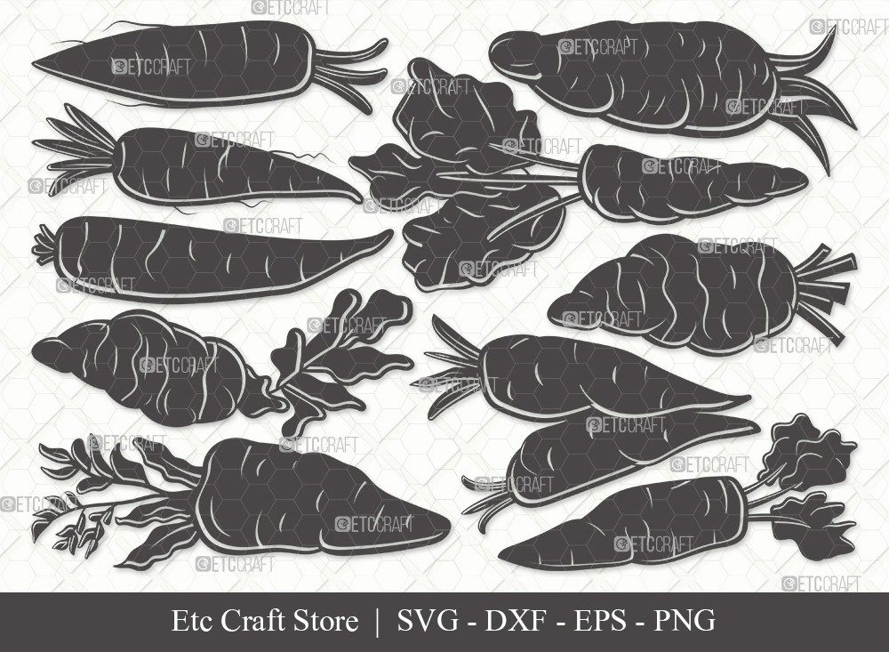 Carrot Silhouette SVG Cut File | Vegetable Svg