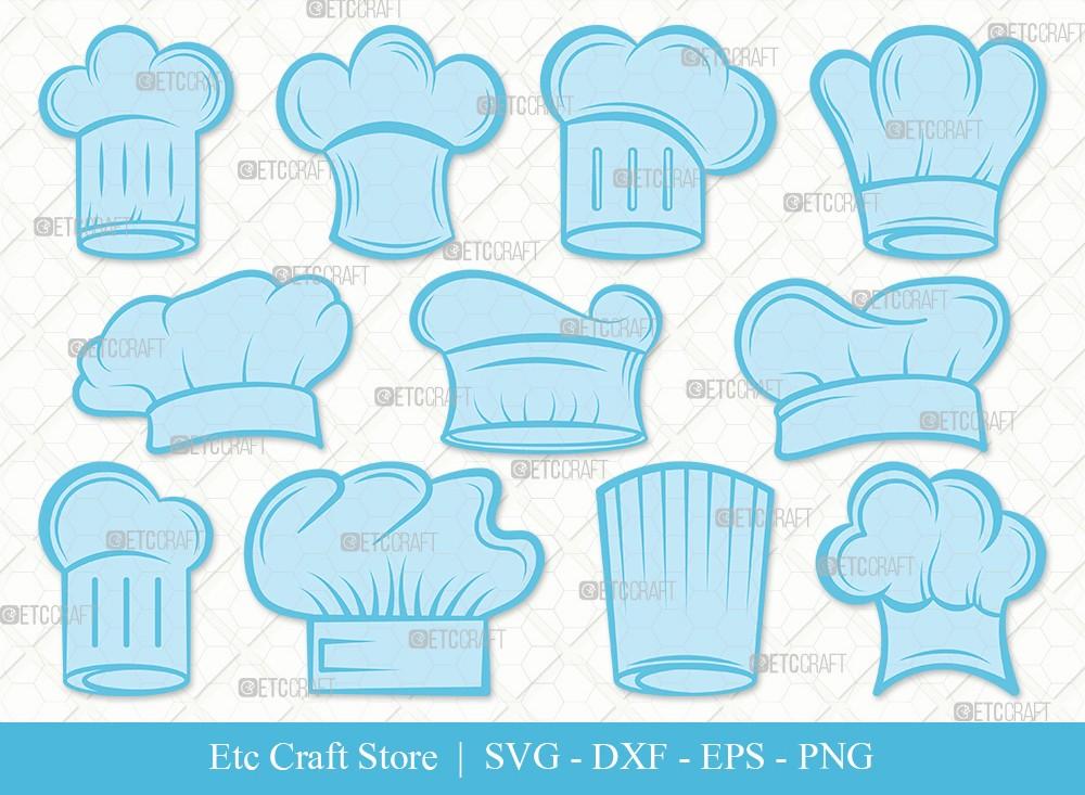 Chef Hat Clipart SVG Cut File   Chef Svg