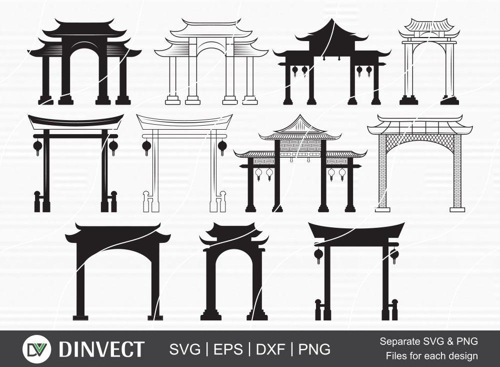 Chinese Gate Svg, Chinese Gate Svg, File Chinese Gate Svg
