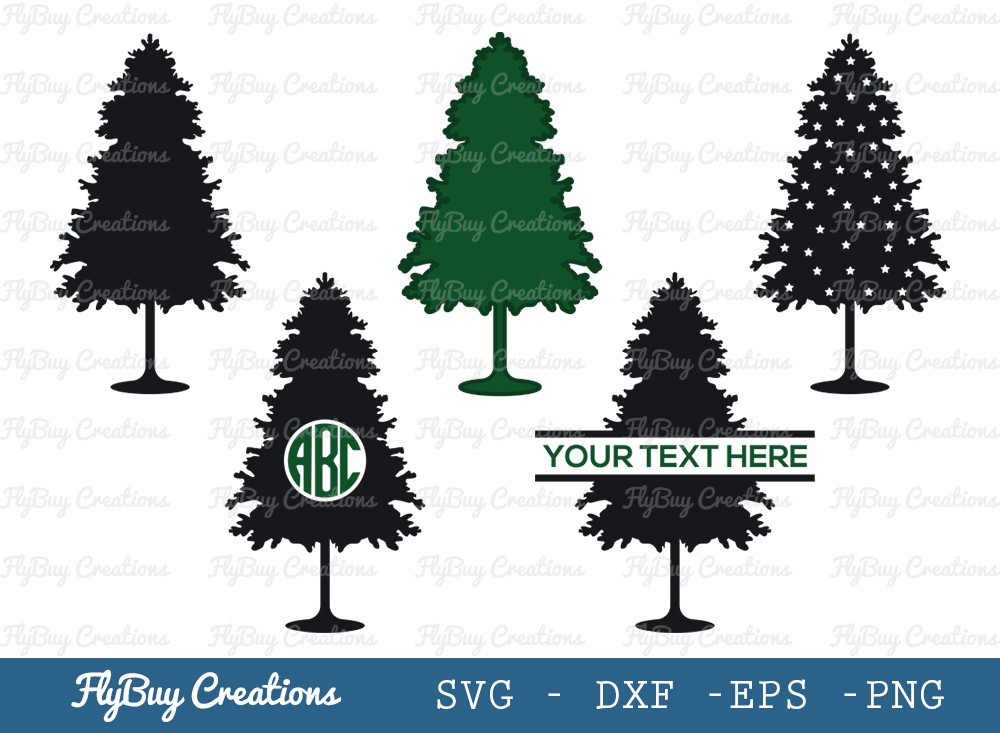 Pine Tree SVG Cut File | Christmas Tree Svg