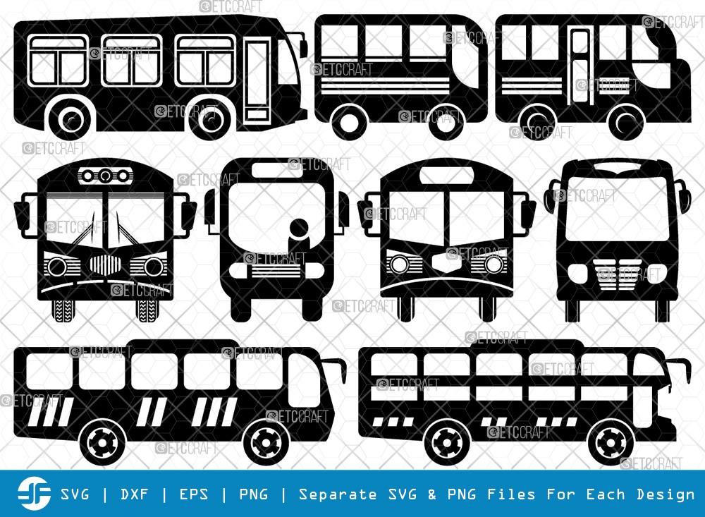 City Bus SVG Cut Files | City Vehicles Silhouette