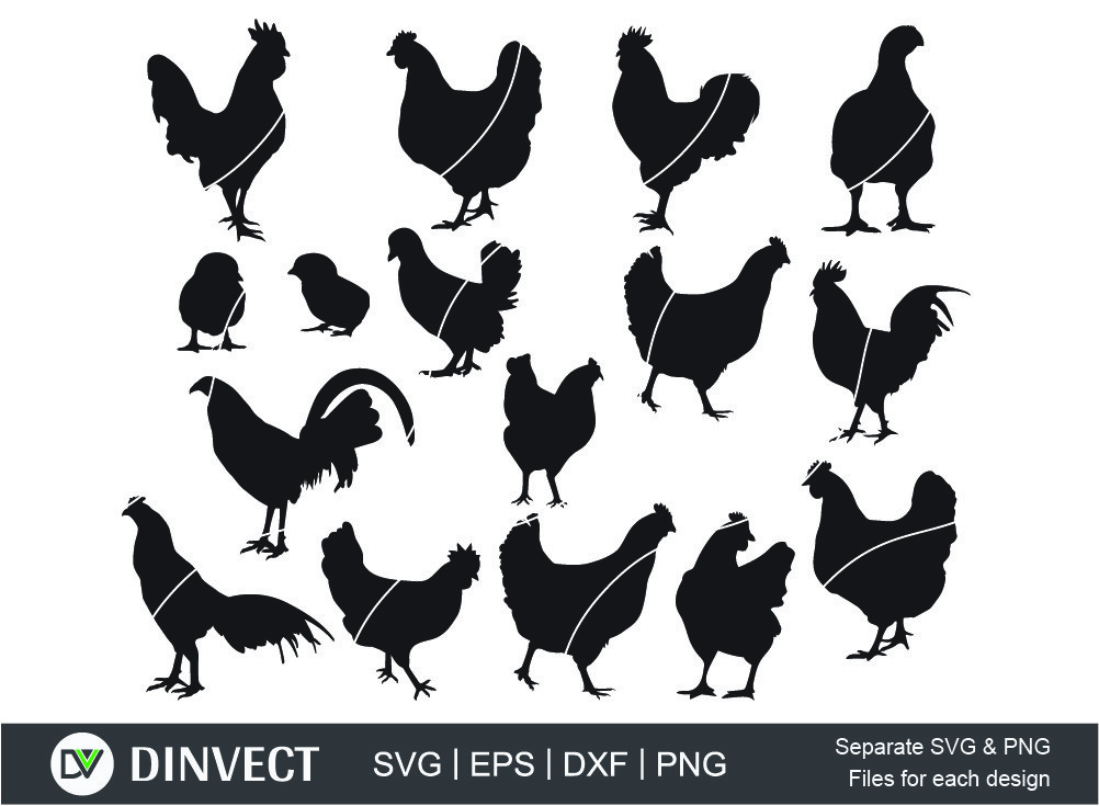 Cock Rooster Silhouette, Cock Rooster SVG