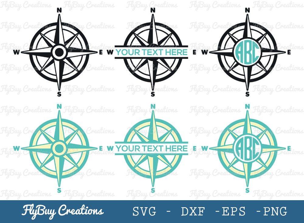 Compass SVG Cut File   Nautical Compass Svg