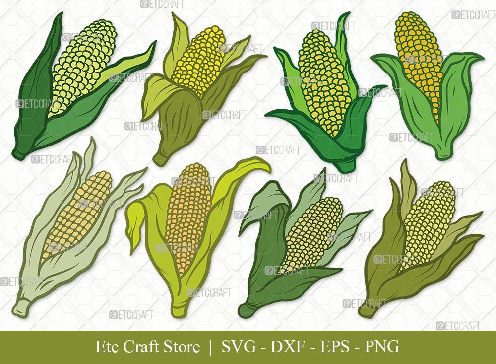 Corn Clipart SVG Cut File | Maize Svg
