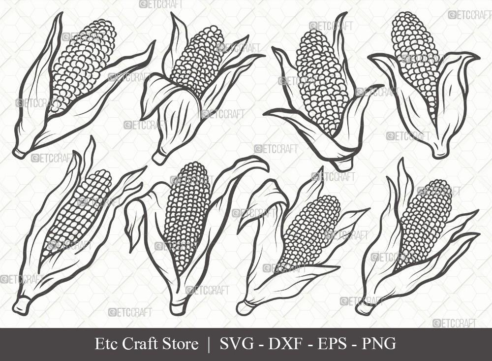 Corn Outline SVG Cut File | Maize Svg