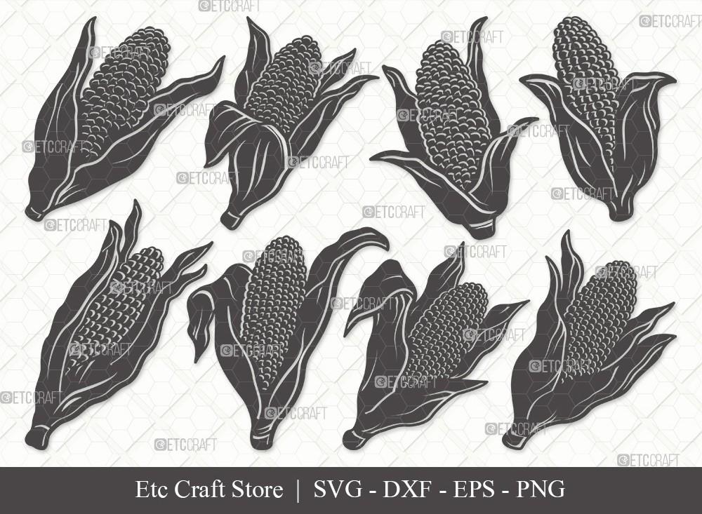 Corn Silhouette SVG Cut File | Maize Svg