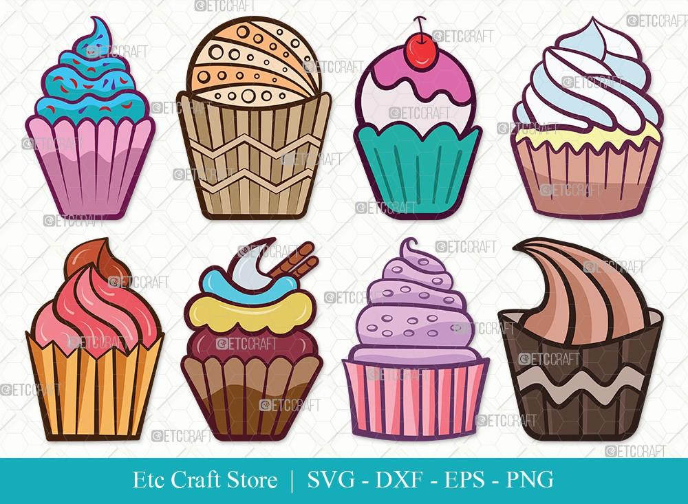 Cupcake Clipart SVG Cut File | Cupcake Svg
