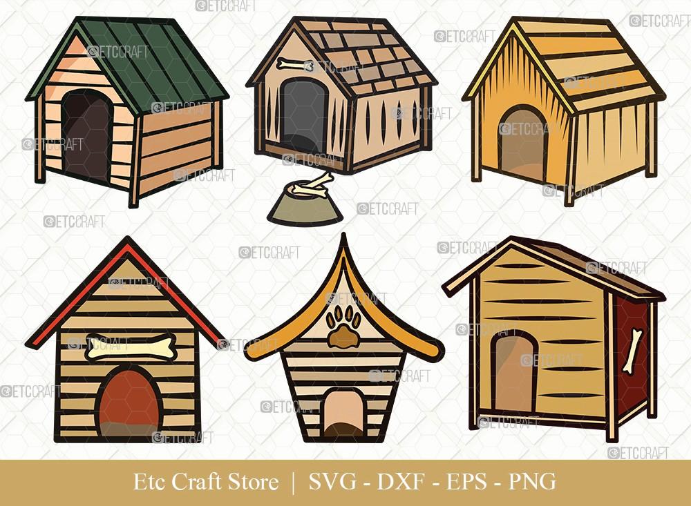 Dog House Clipart SVG Cut File | Dog Svg