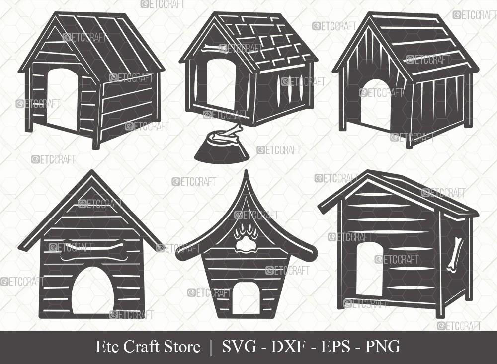 Dog House Silhouette SVG Cut File | Dog Svg