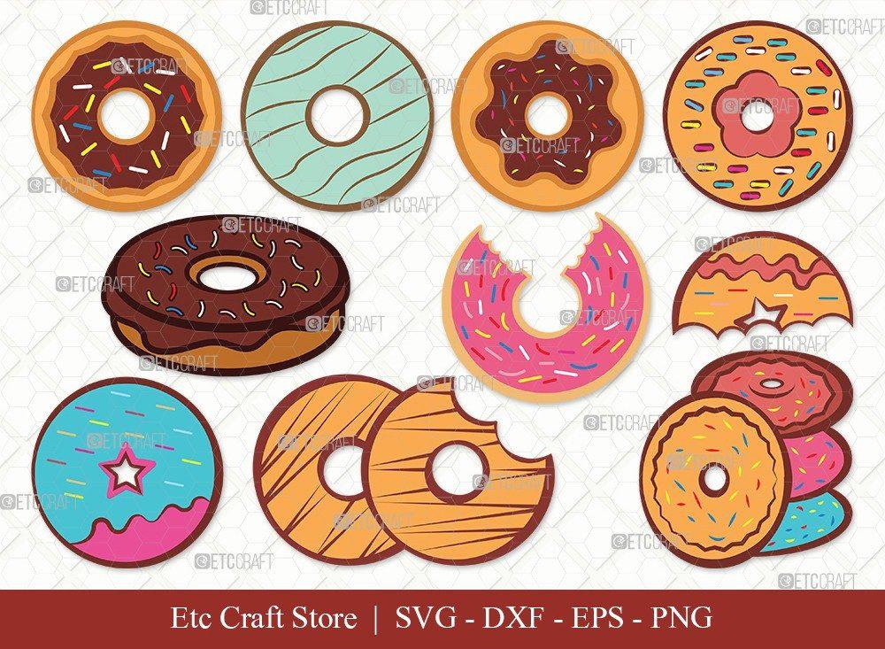 Donut Clipart SVG Cut File | Doughnut Svg