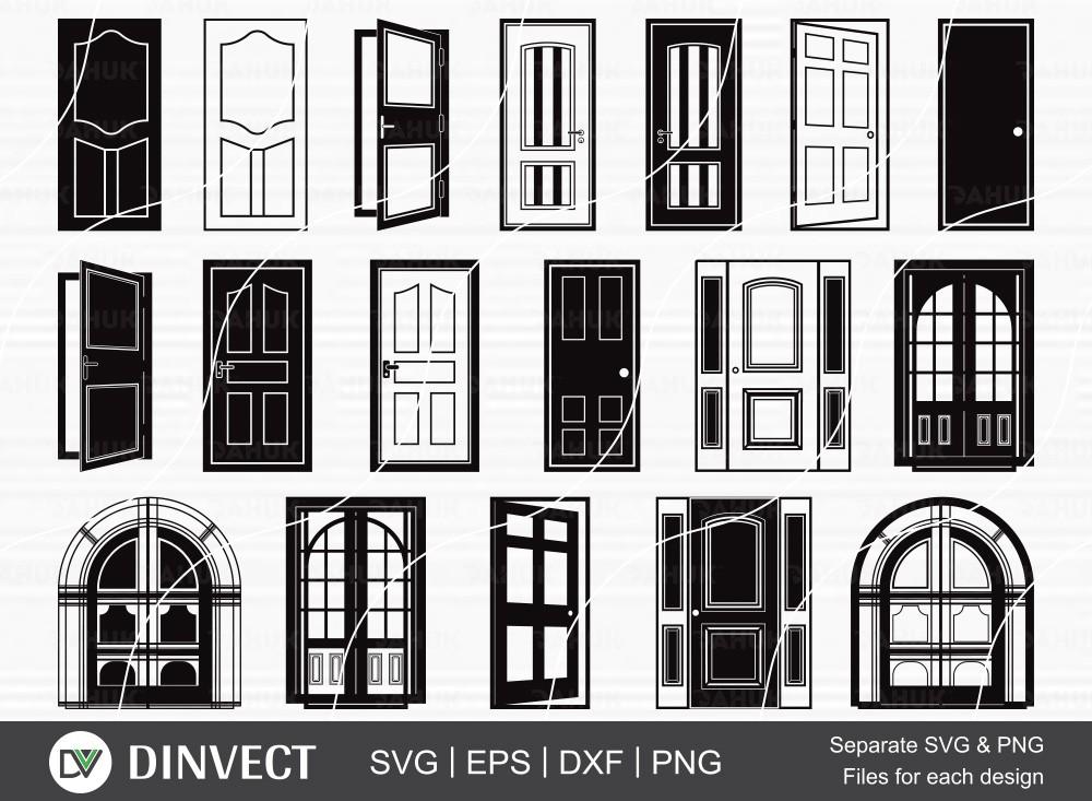 Door SVG Bundle, Door Silhouette