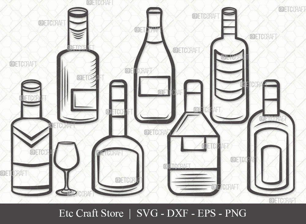 Drinks Bottle Outline SVG Cut File | Beer Bottle