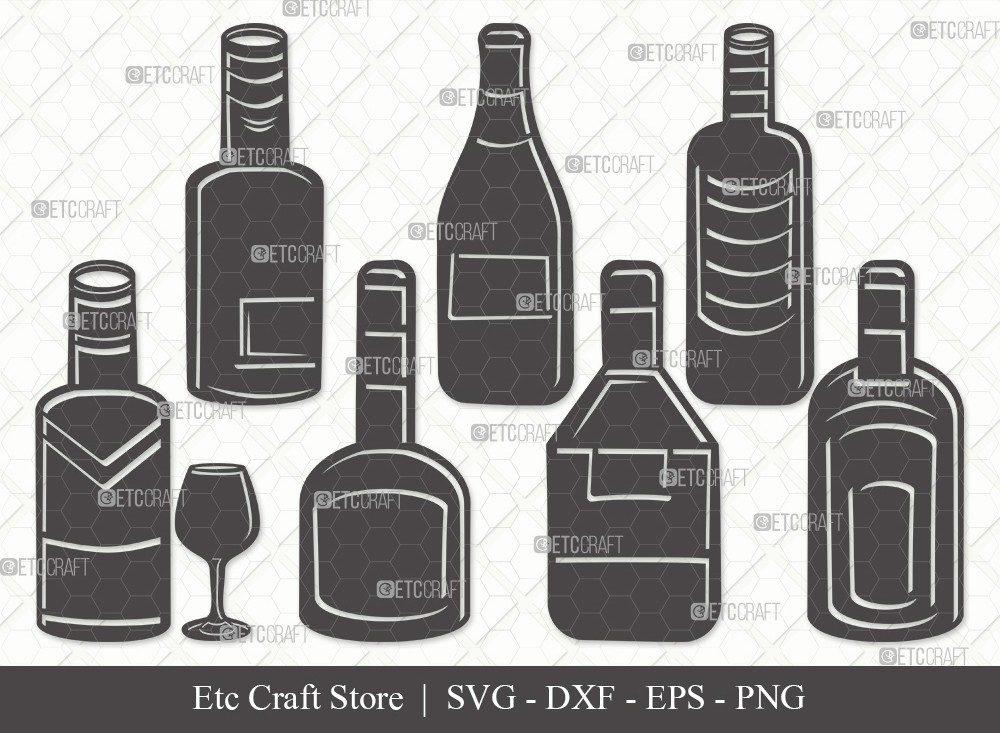 Drinks Bottle Silhouette SVG Cut File | Beer Bottle