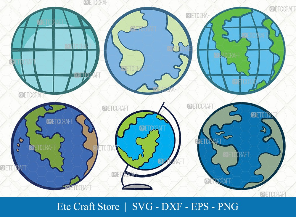 Earth Clipart SVG Cut File | Planet Svg