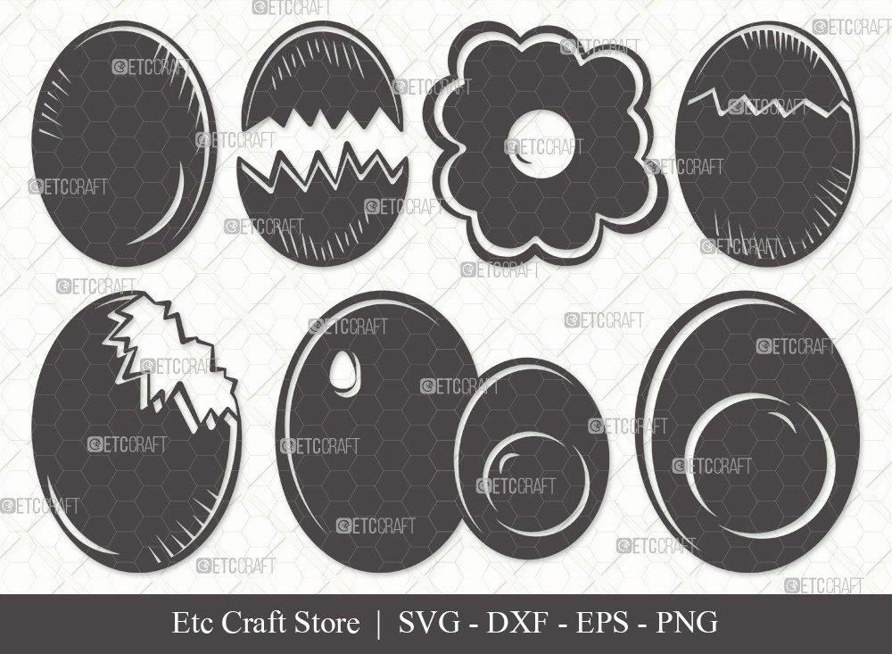 Egg Silhouette SVG Cut File | Cracked Egg Svg