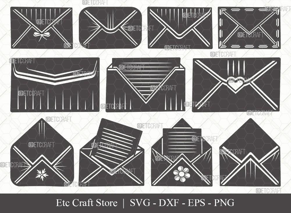 Envelope Silhouette SVG Cut File | Mail Svg