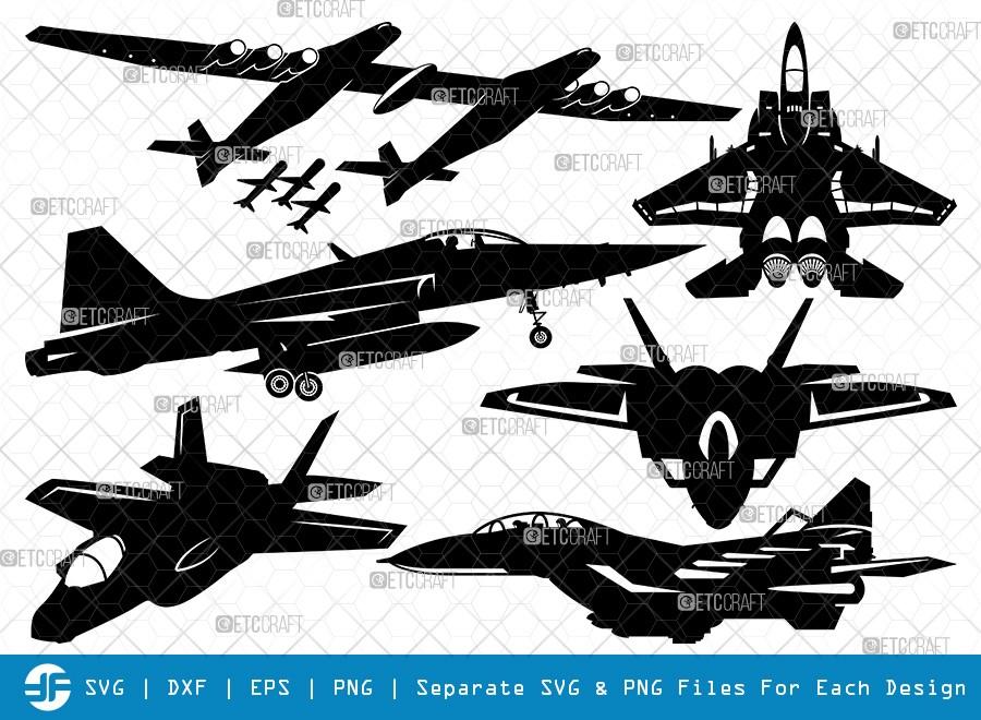Fighter Aircraft SVG Cut Files   Jet Biman Silhouette