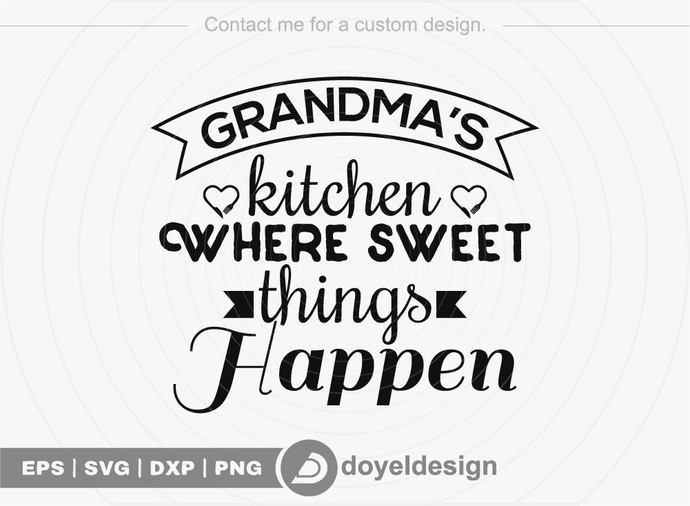 Grandma's kitchen where sweet things happen