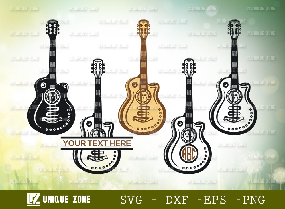 Guitar Svg Cut File | Guitar Bundle