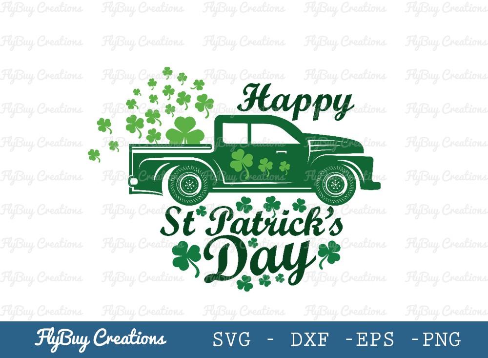 Happy St Patricks Day SVG | Shamrock Svg