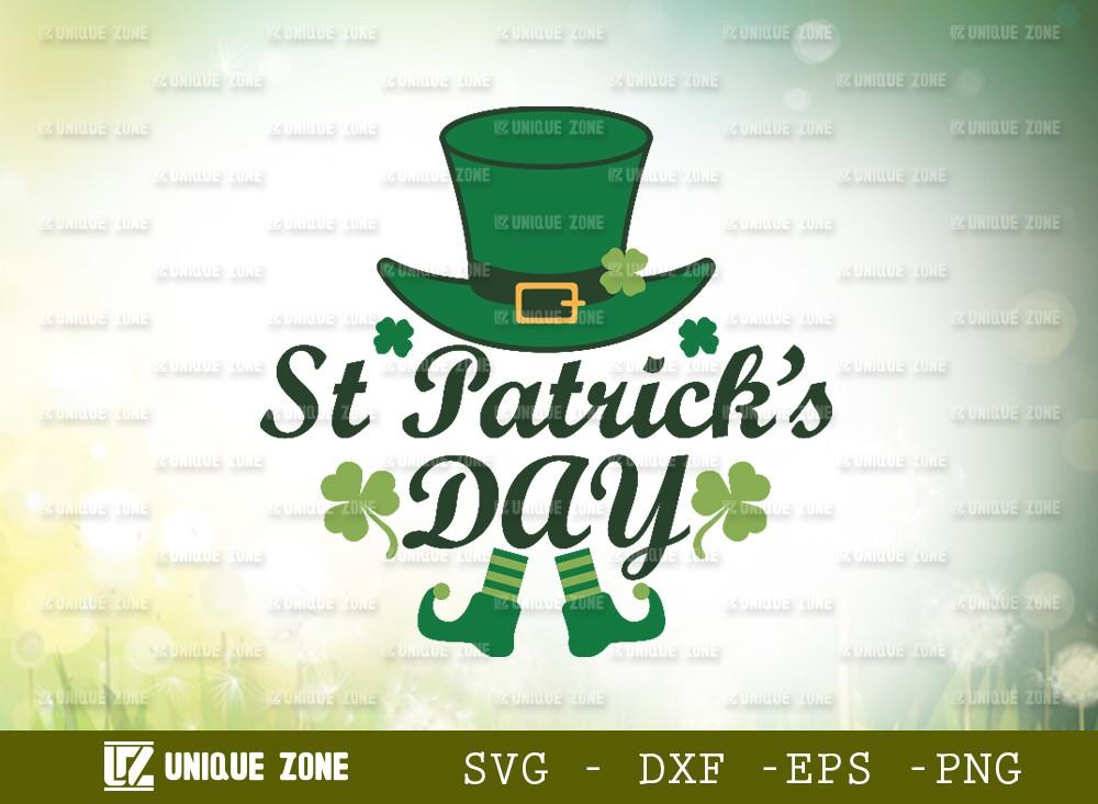 Happy St Patricks Day SVG   Shamrock Svg