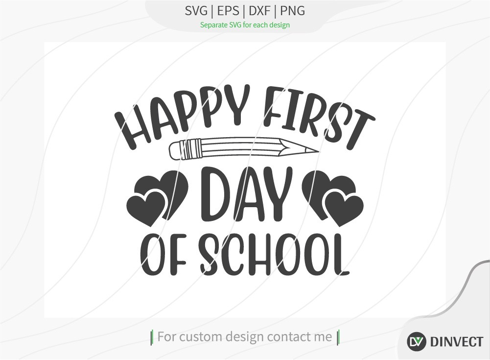 Happy first day of school SVG Cut File, Teacher Life SVG