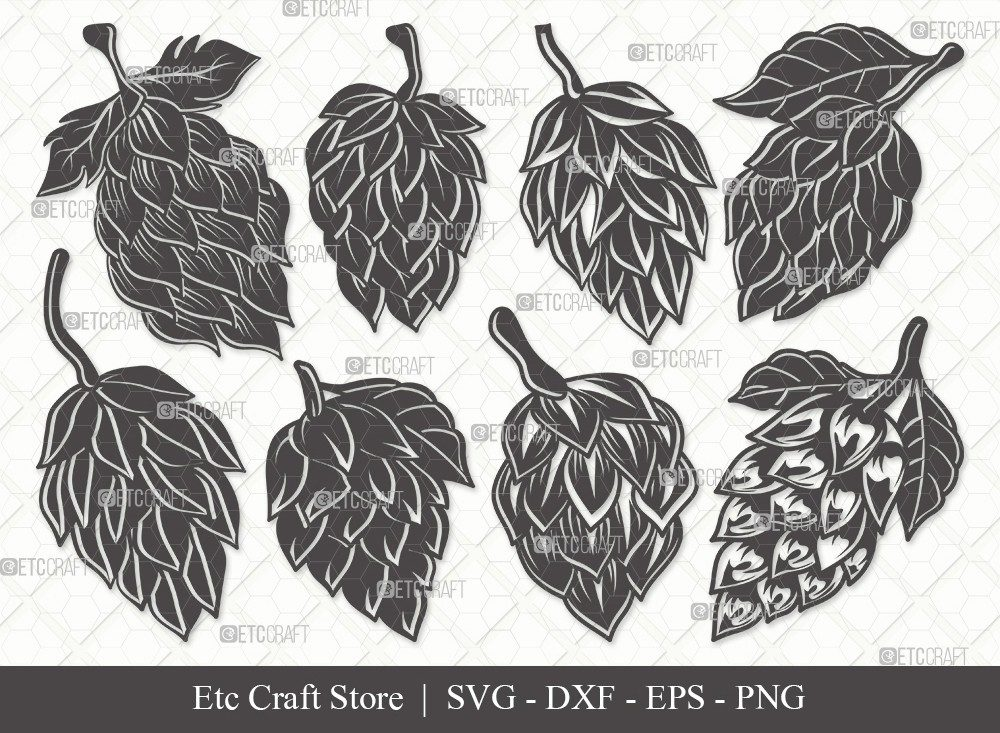 Hops Silhouette SVG Cut File   Beer Hops Svg