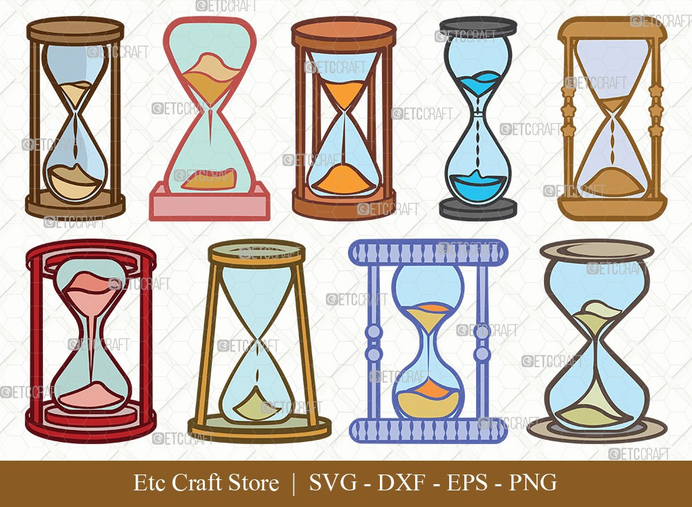 Hourglass Clipart SVG Cut File | Hour Glass Svg