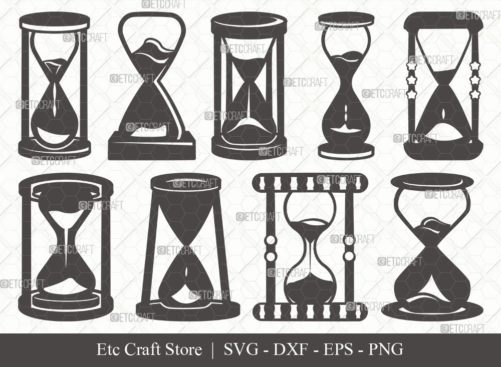 Hourglass Silhouette SVG Cut File   Hour Glass Svg