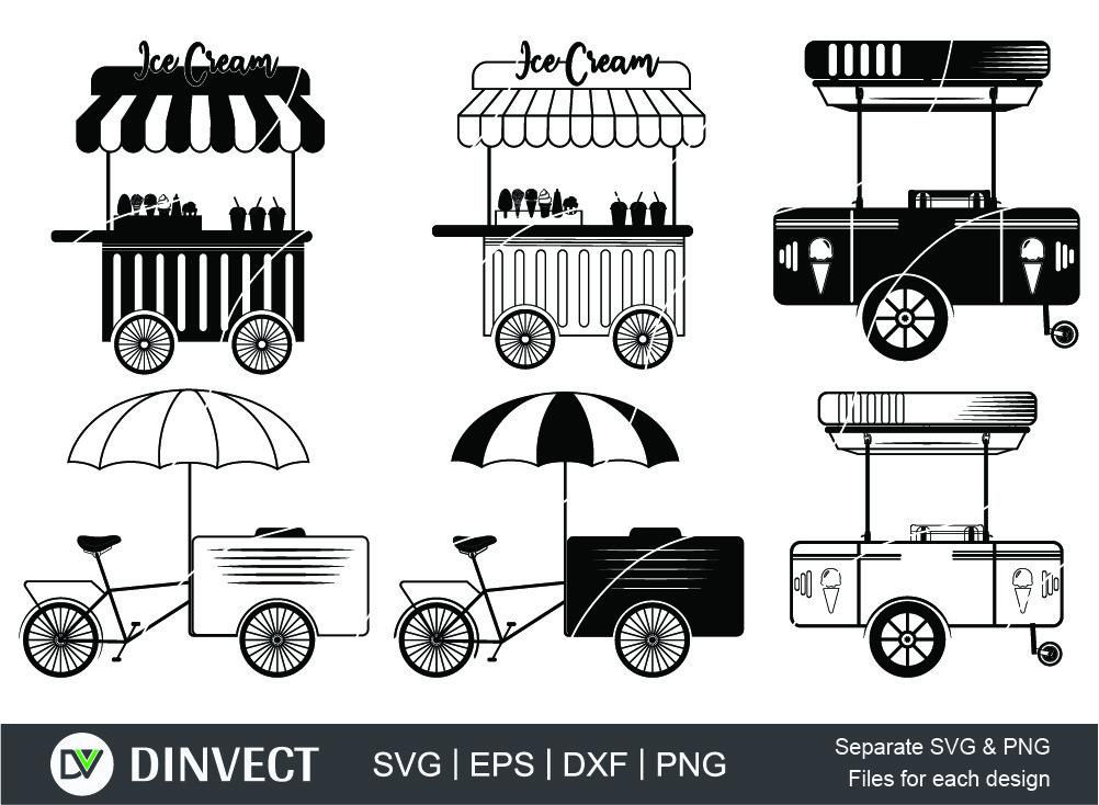 Ice cream cart svg, Ice cream cars svg