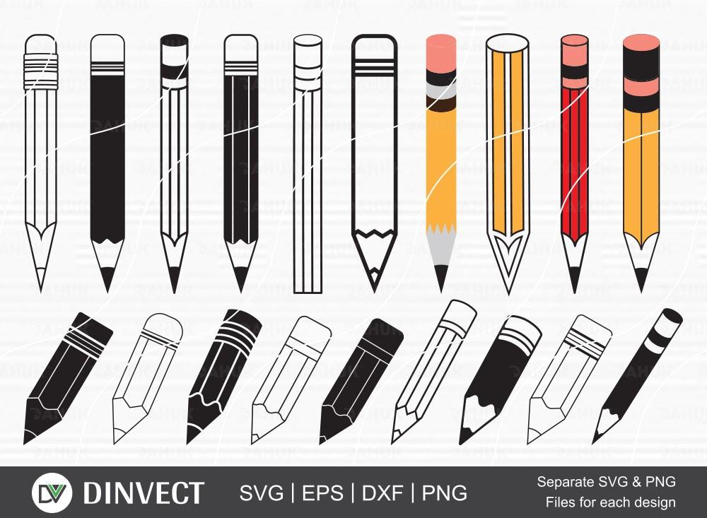 Pencil SVG, Pencil clipart, Pencil Silhouette, Pen vector