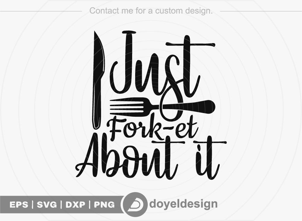 Just Fork et About it SVG Cut File